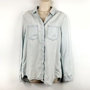 🍁 Thread & Supply Striped Chambray Button Down M